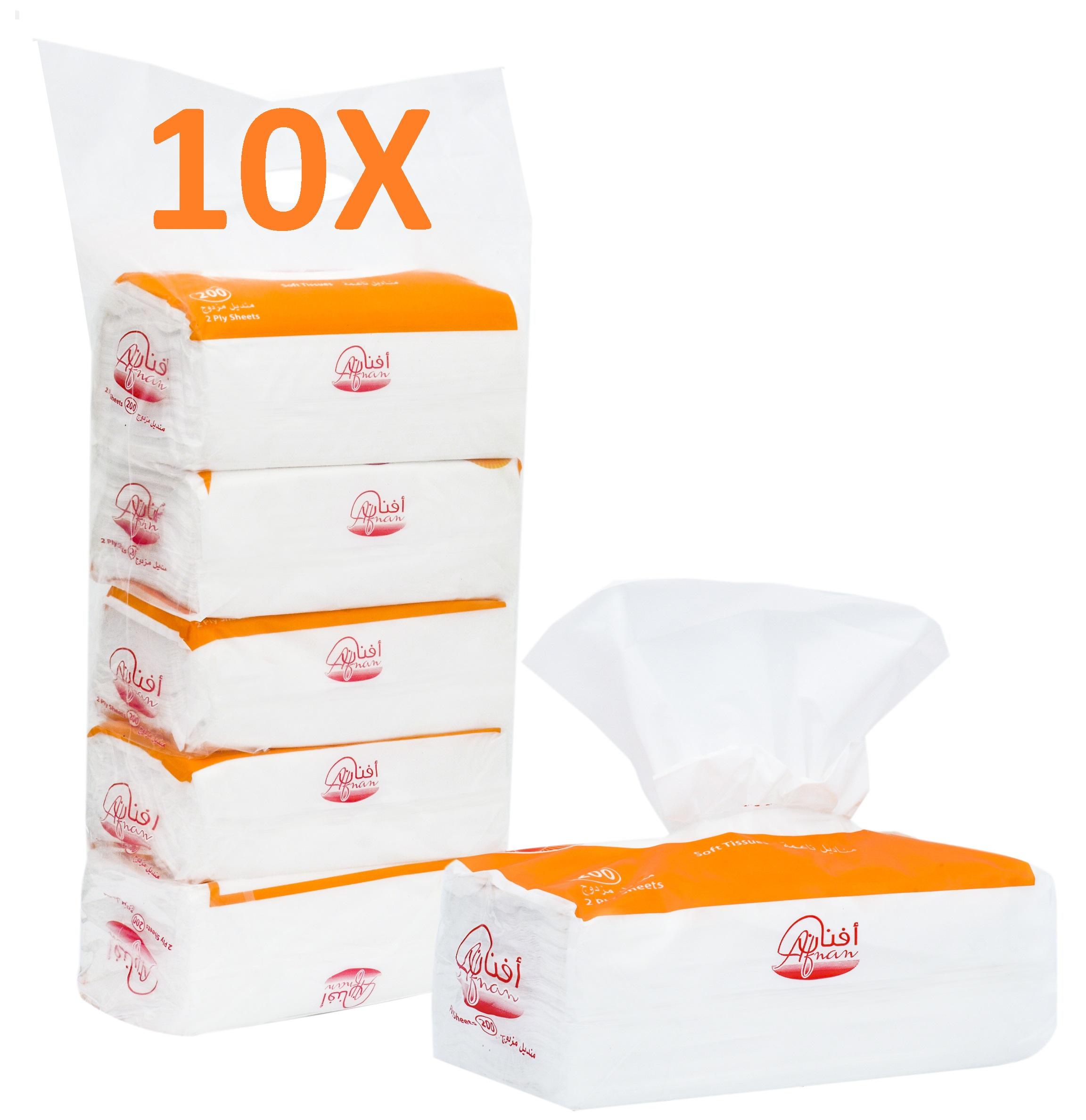 Afnan Facial Tissue 200 * 50 PC (10,000 Tissues)